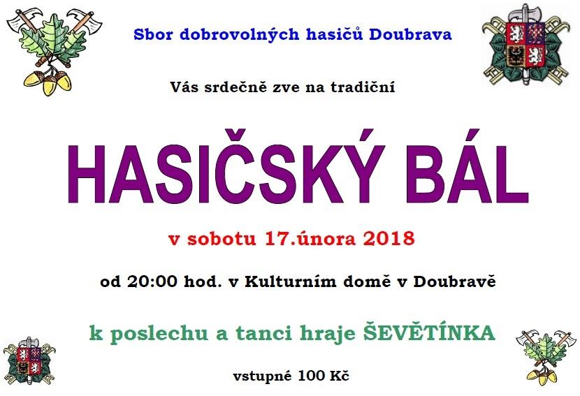Hasičský ples v Doubravě