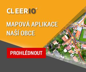 Banner mapové aplikace CLEERIO