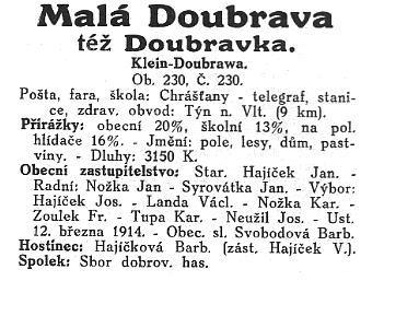 Doubravka - historie